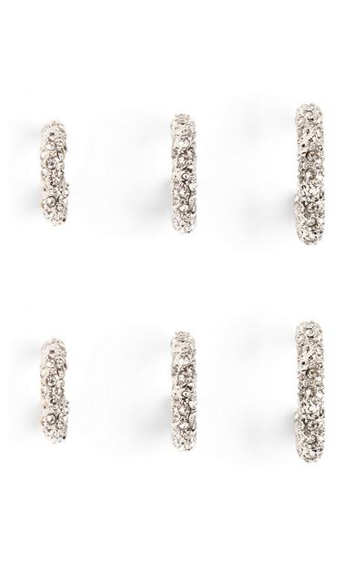 Diamante Hoops 3pk