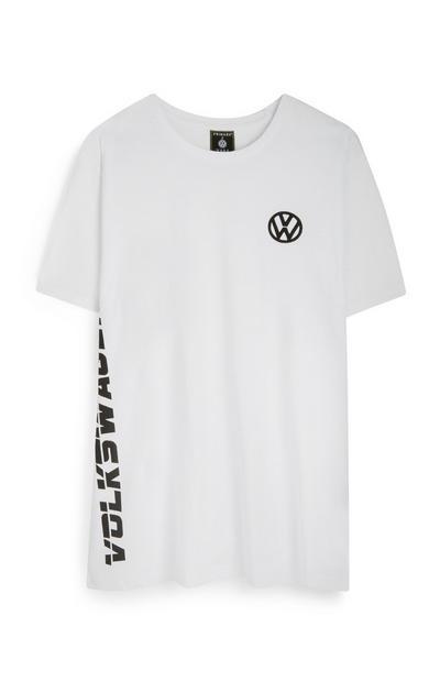 White Volkswagen Logo T-Shirt