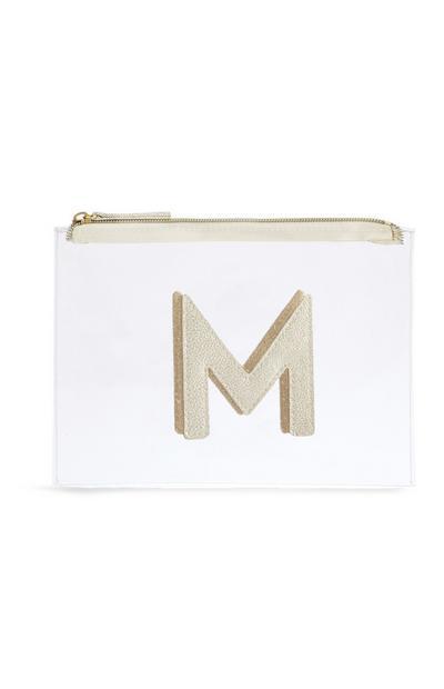 Letter M Clear Make-Up Bag