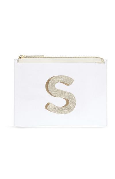 Letter S Clear Make-Up Bag