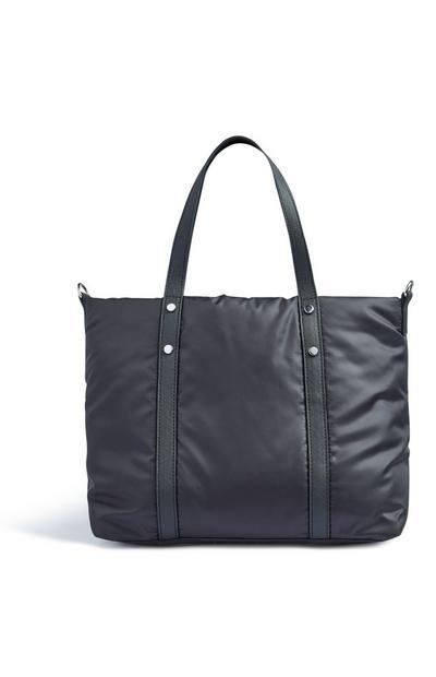Schwarze Shopper-Tasche aus Nylon