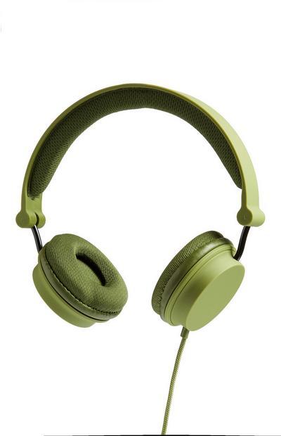 Green Folding Headphones
