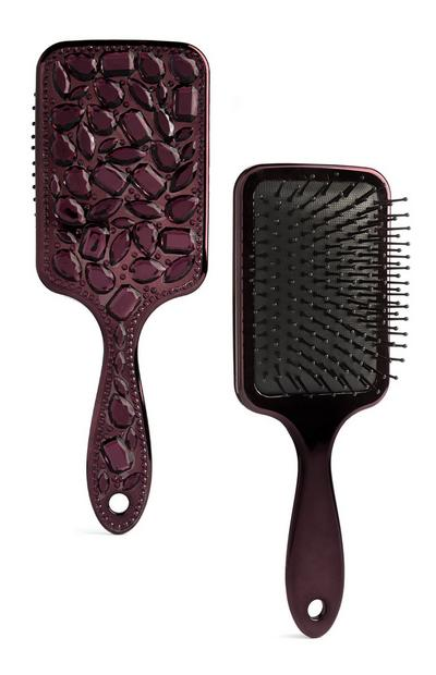 Purple Gem Paddle Brush