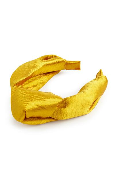 Yellow Satin Loose Knot Headbands