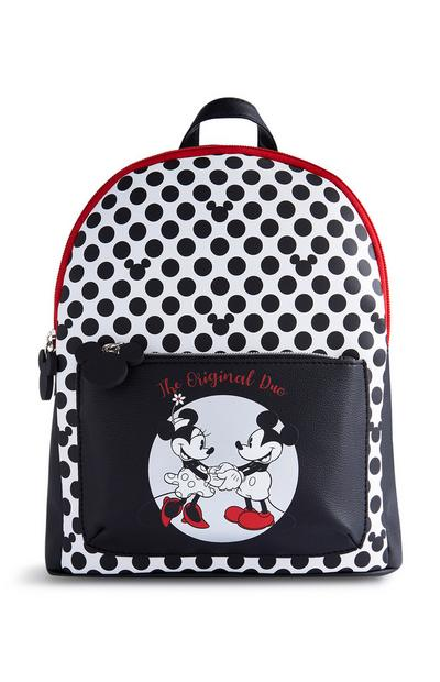 Black Mickey And Minnie Backpack