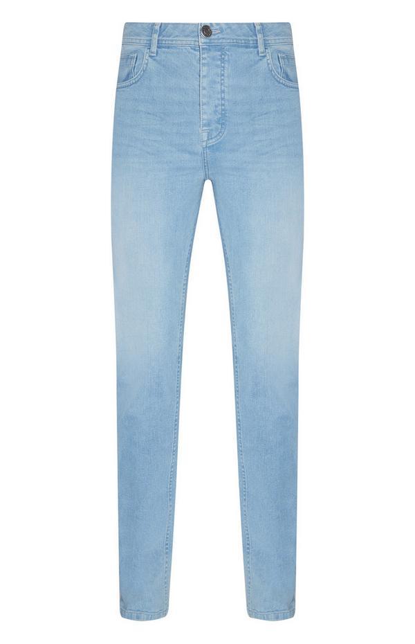 Light Blue Stretch Slim Leg Jeans
