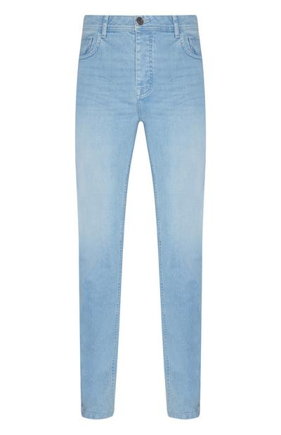 Light Blue Stretch Slim Leg Jeans