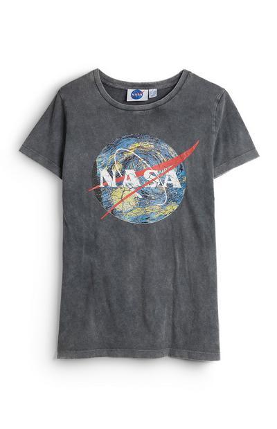 Grey Short Sleeve Nasa Globe T-Shirt
