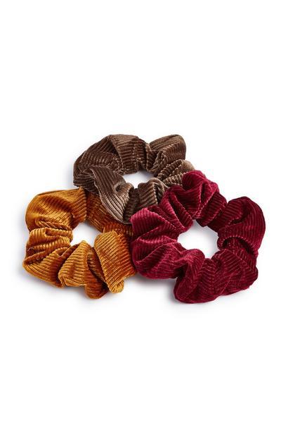 Velvet Scrunchies 3pk