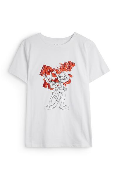 White Looney Tunes Bugs Bunny And Lola T-Shirt