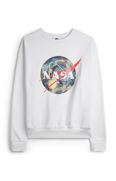 White NASA Globe Jumper