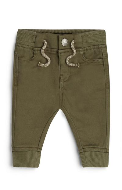 Baby Boy Khaki Cuffed Leg Trousers