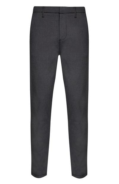 Grey Stretch Slim Trousers
