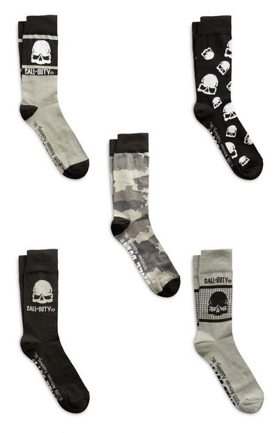Black Call Of Duty Socks 5Pk