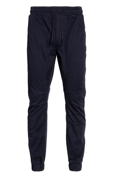 Cuffed Navy Joggers