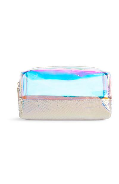 Clear Holographic Make-Up Bag