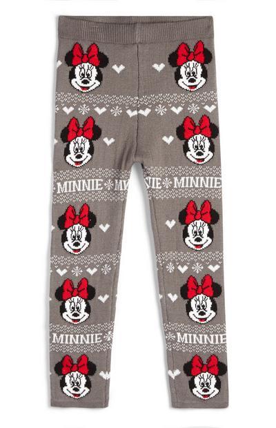 """Graue """"Minnie Maus"""" Leggings mit Fairisle-Muster für Babys (M)"""