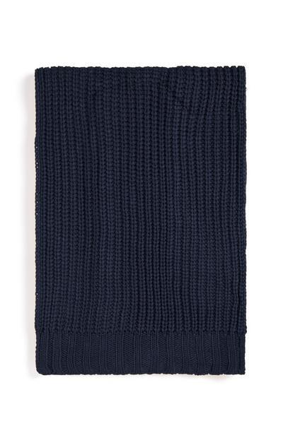 Chunky Navy Knit Scarf