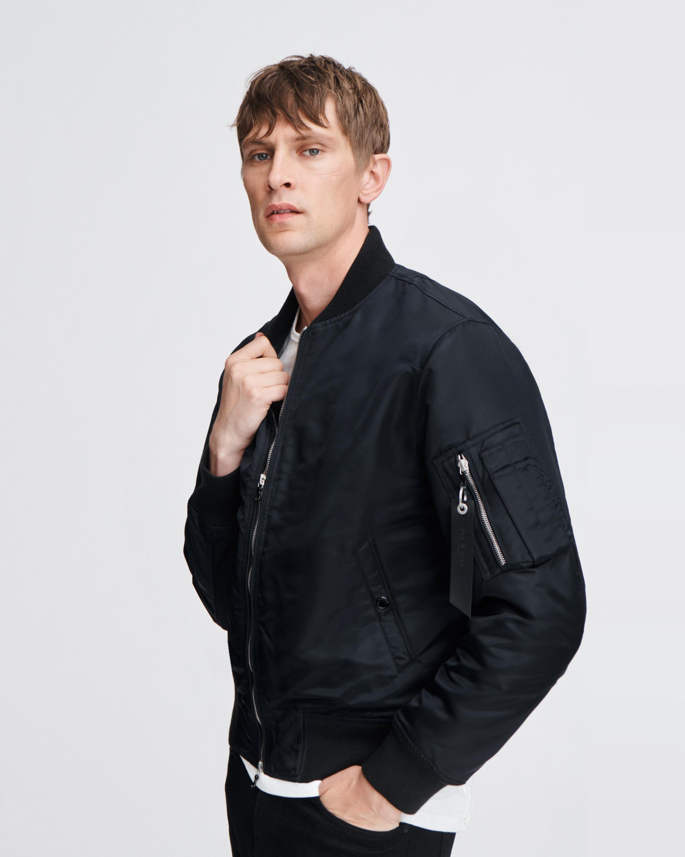 Geniue Stockist Cheap Online For Sale Discount Sale Rag & Bone/jean Woman Leather Bomber Jacket Black Size M Rag & Bone Cheap Manchester Great Sale Extremely Cheap Price Outlet Lowest Price KMaP2