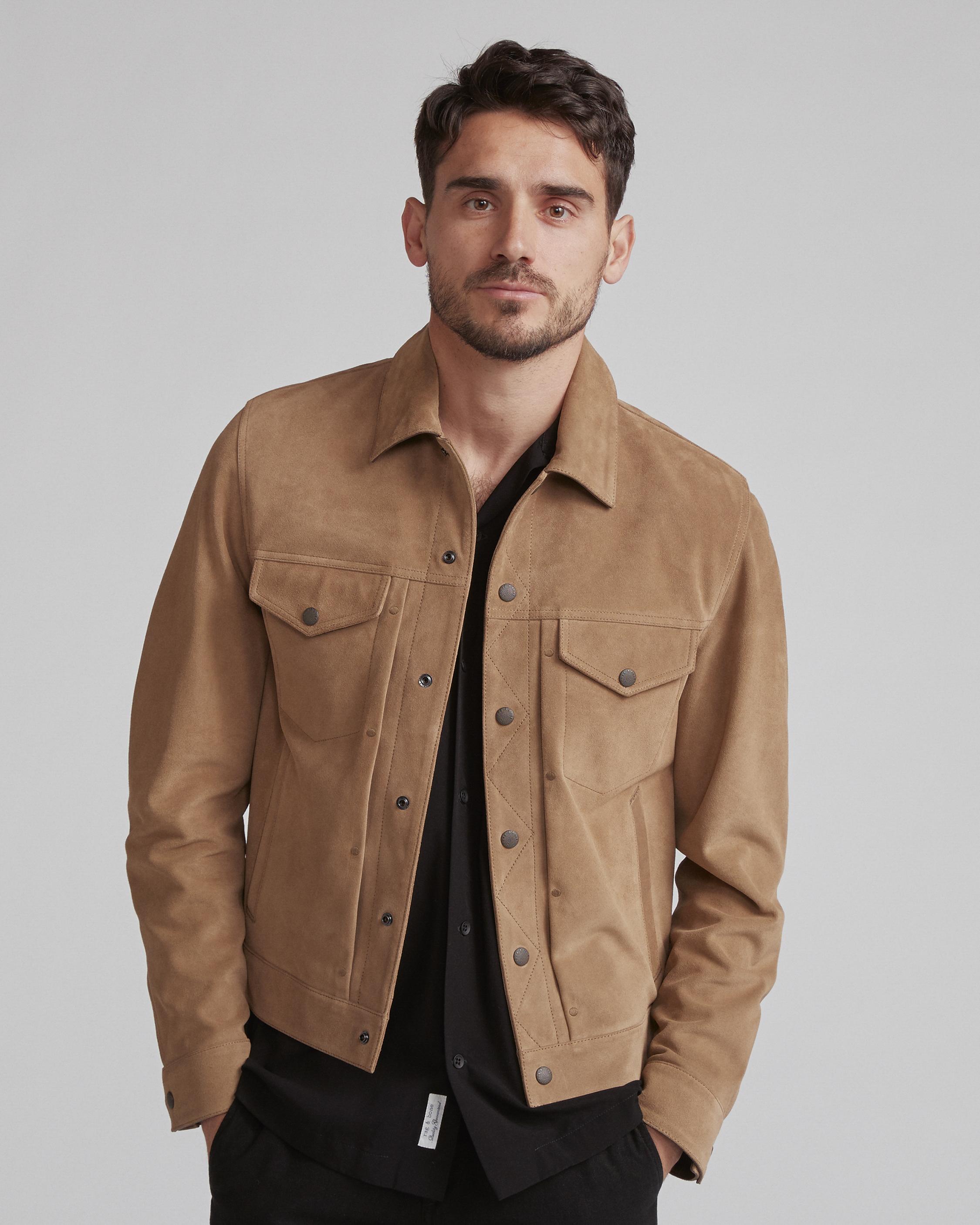 b1d278f0d Suede Trucker Jacket   Men Coats & Jackets   rag & bone