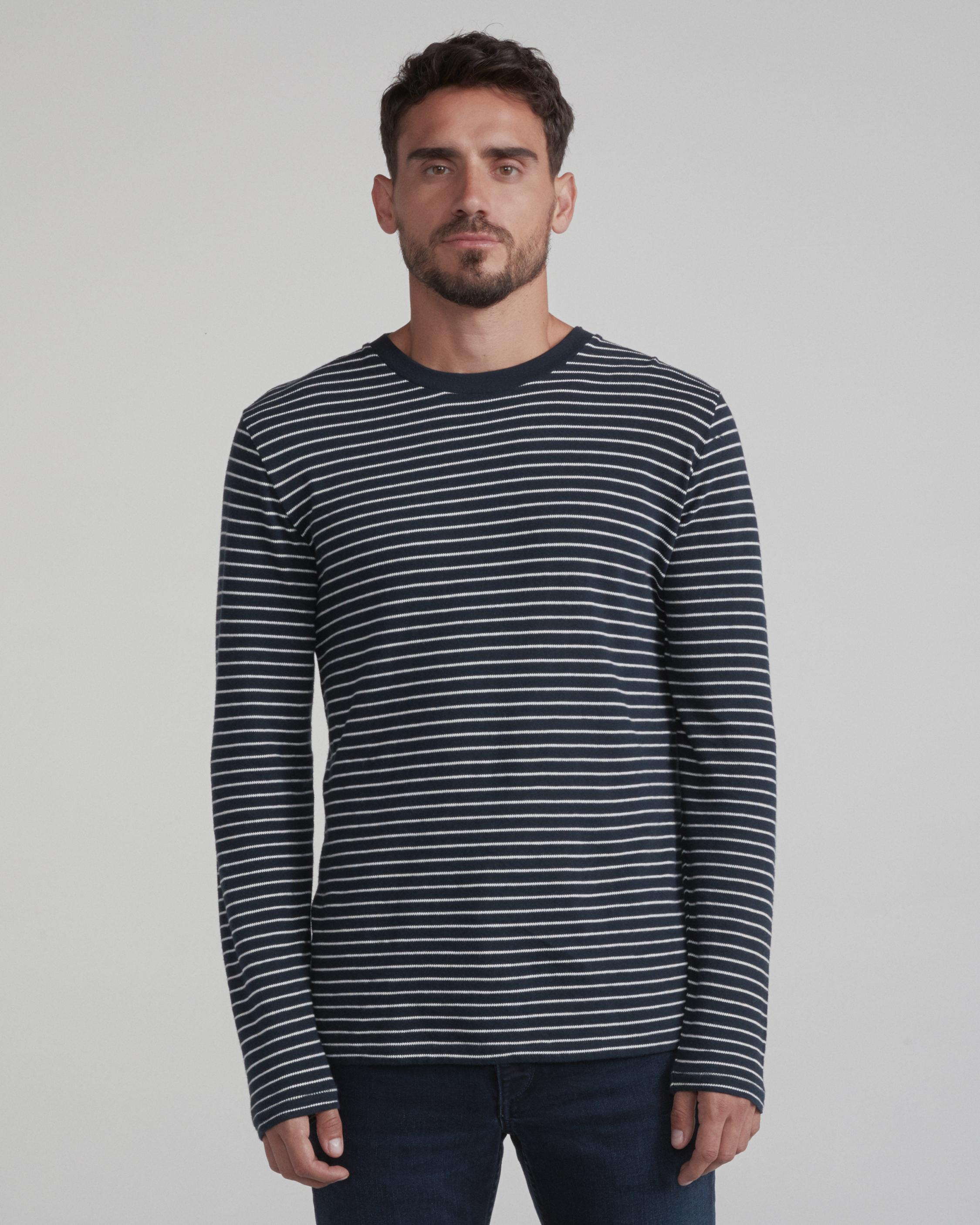 RAILROAD STRIPE LONG SLEEVE TEE