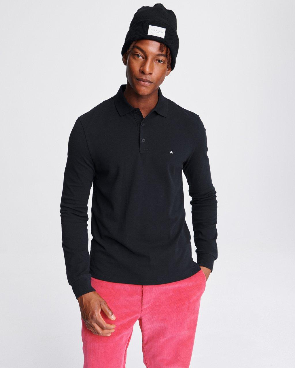 HYPER-LAUNDERED PIQUE POLO LONG SLEEVE