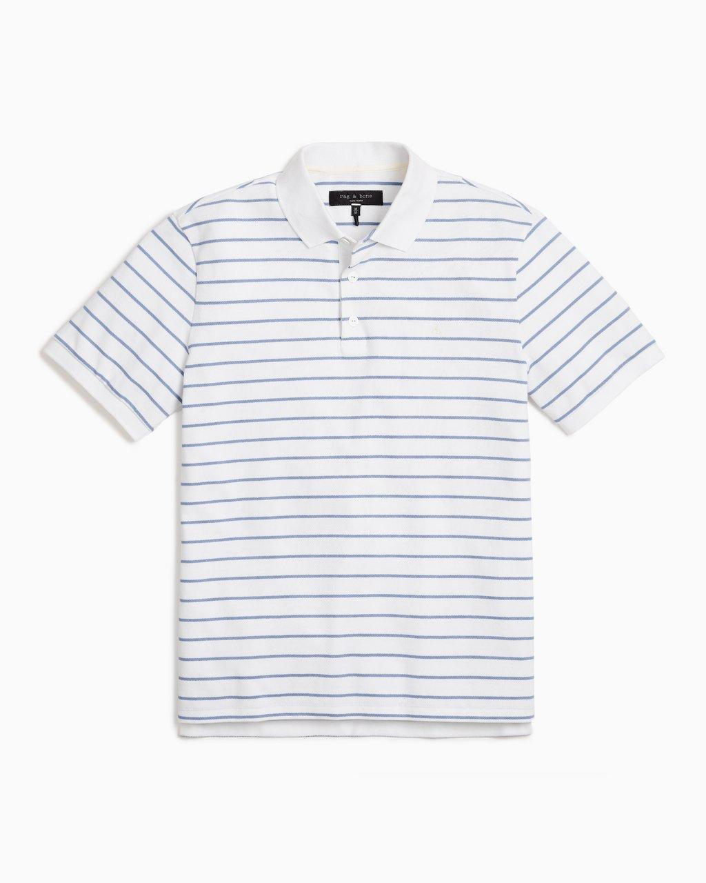 Stripe Cotton Pique Polo
