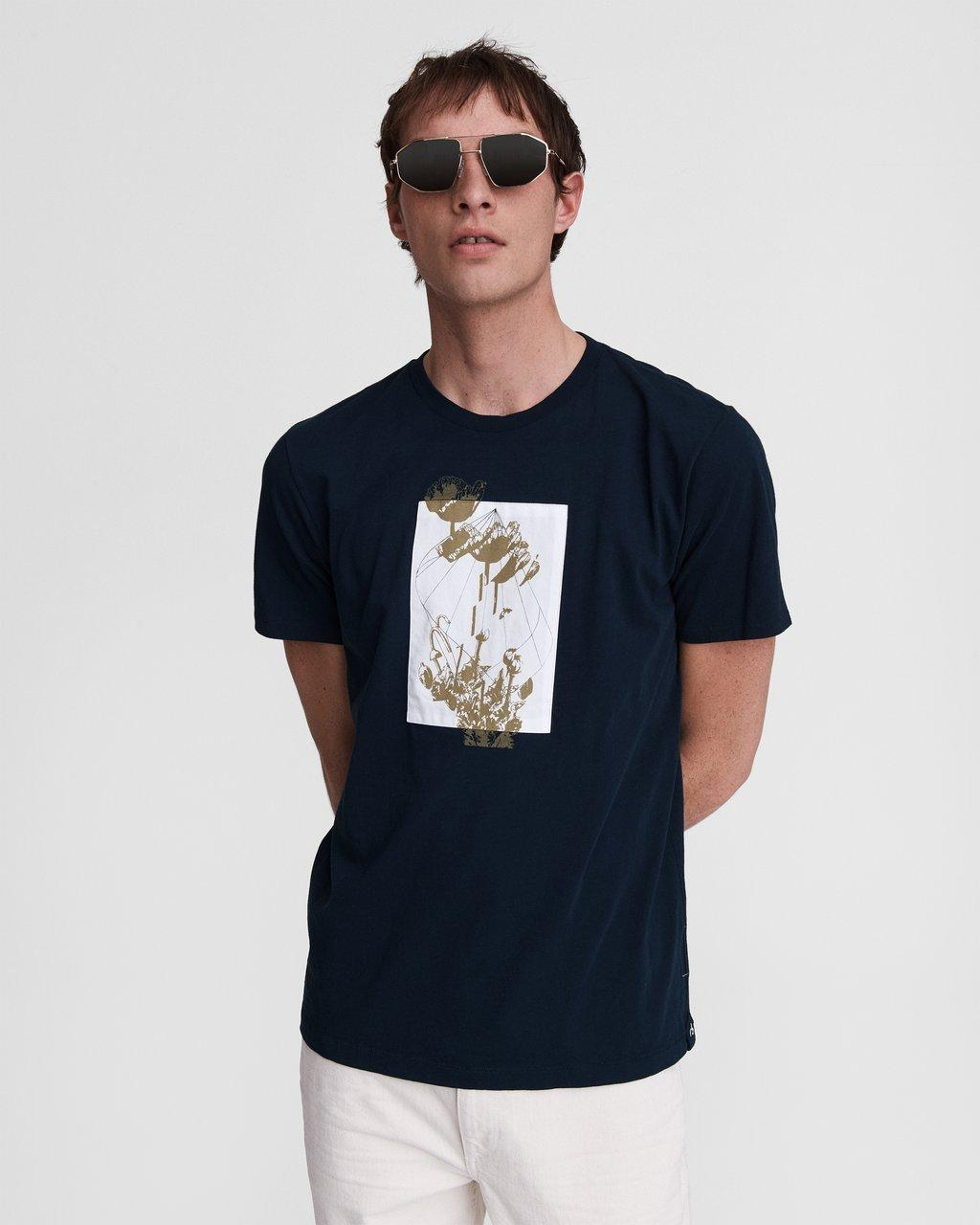 Glitched Floral Cotton Tee
