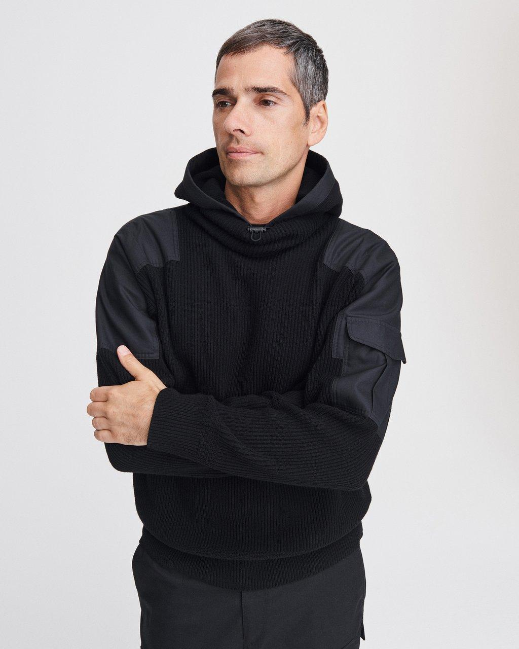 ANDREW MILITARY HOODED PULLOVER