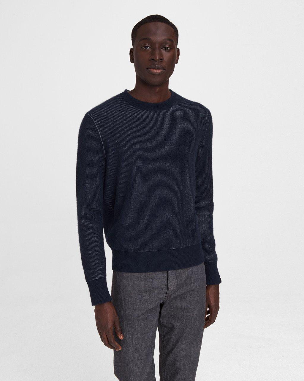 Finch Reversible Cashmere Blend Crew