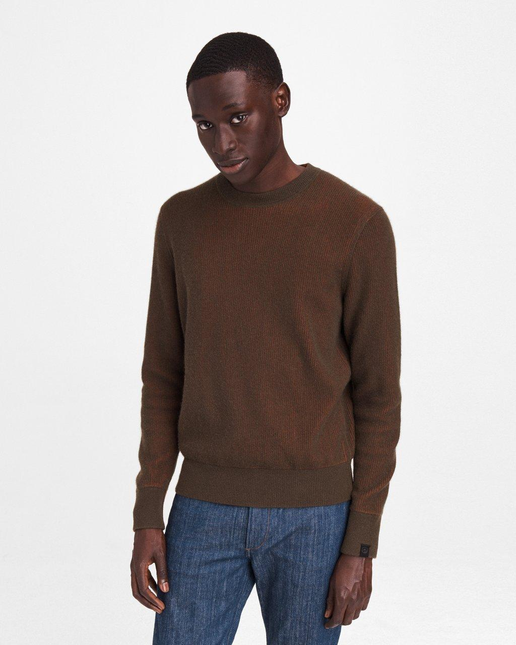 Finch Ribbed Cashmere Blend Crew