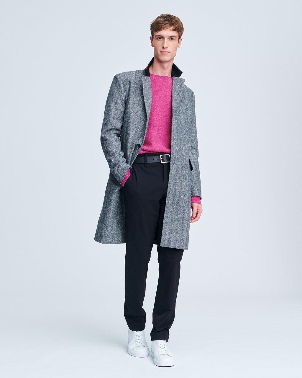 Rory Herringbone Wool Coat