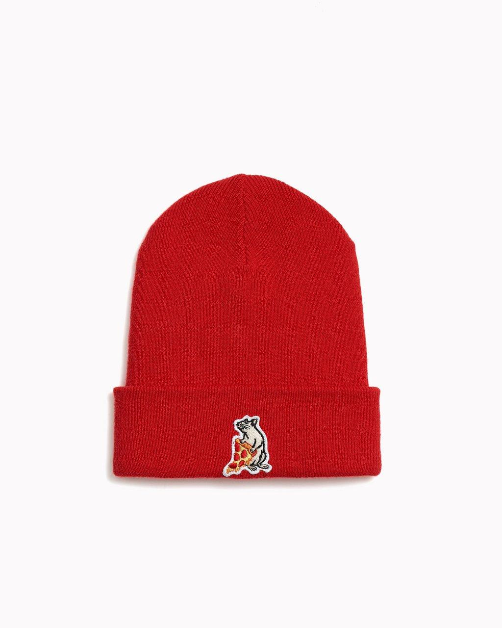 PIZZA RAT PATCH BEANIE