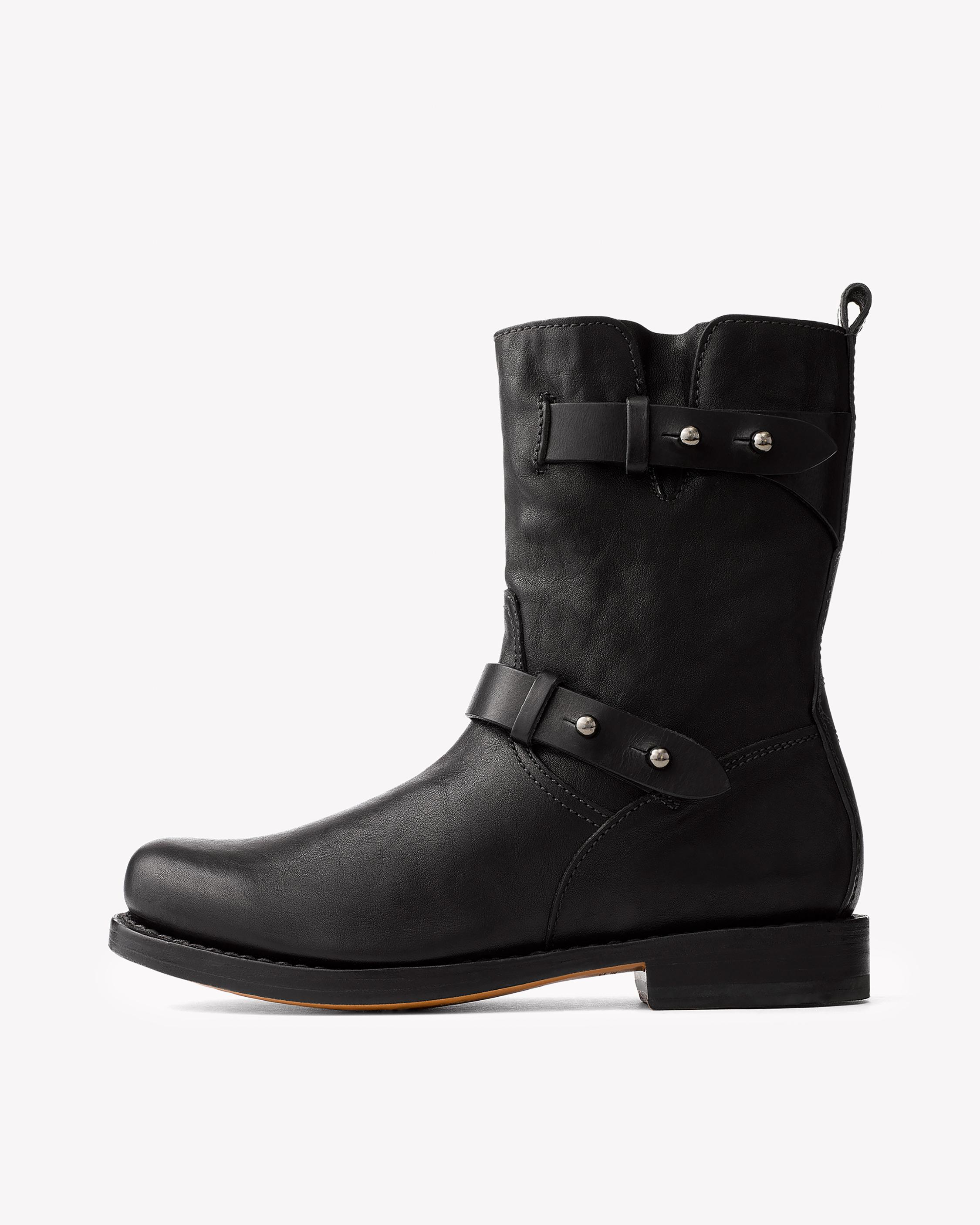 RAG&BONE Leather Biker Boots etoecPVX