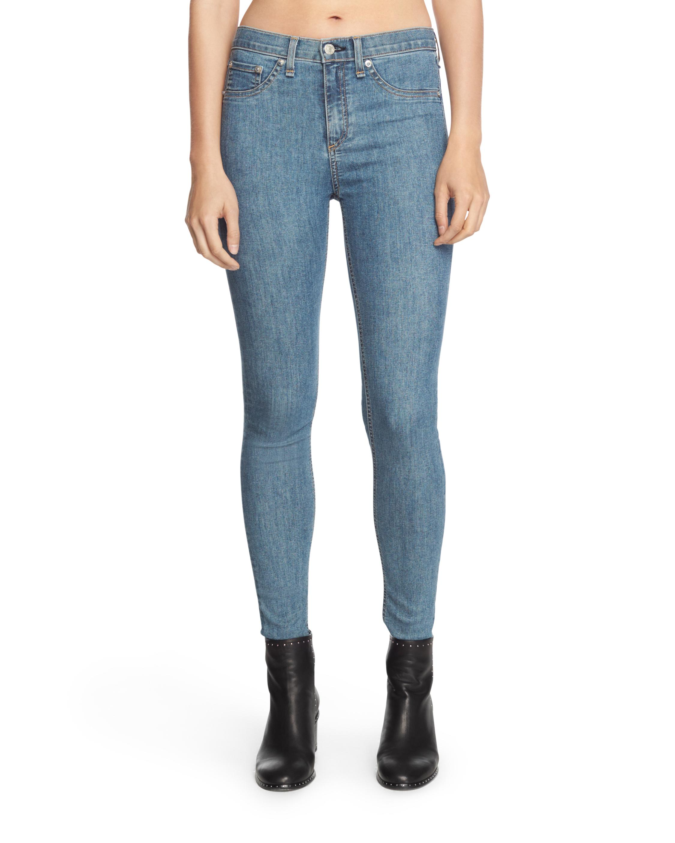 Find Great For Sale high rise skinny jeans - Blue Rag & Bone How Much Websites Sale Pay With Paypal Discount Lowest Price Bee57X