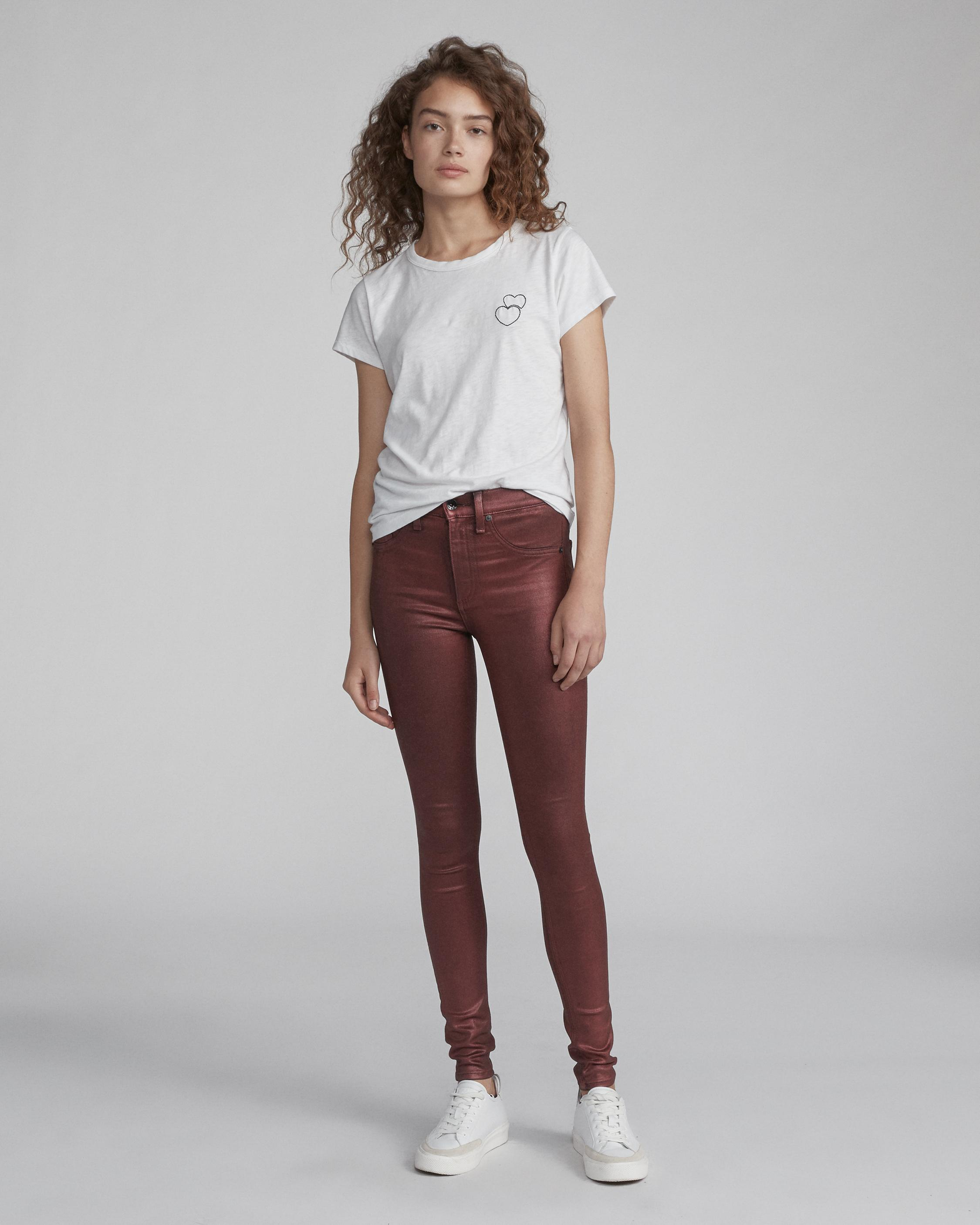 HIGH RISE SKINNY COATED JEAN