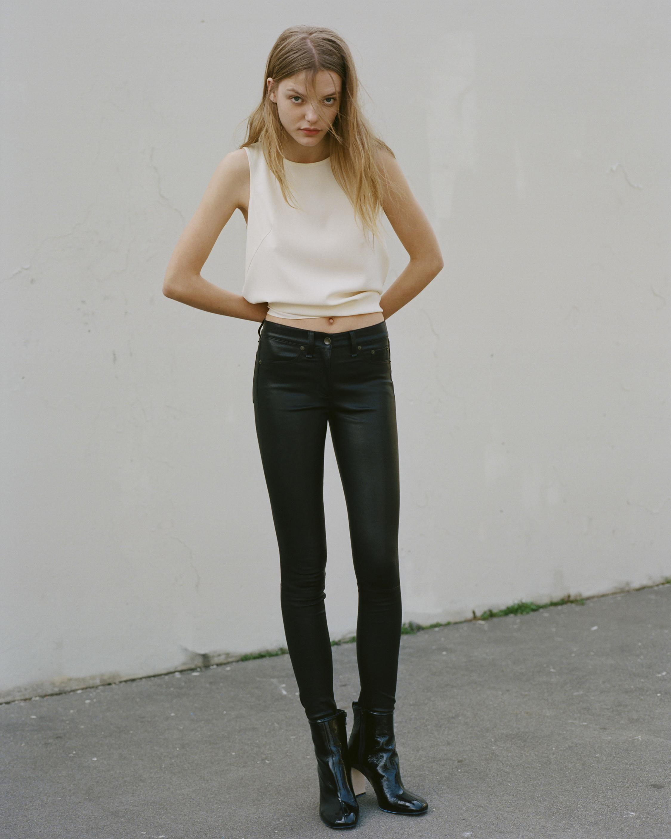 HIGH RISE SKINNY LEATHER PANT