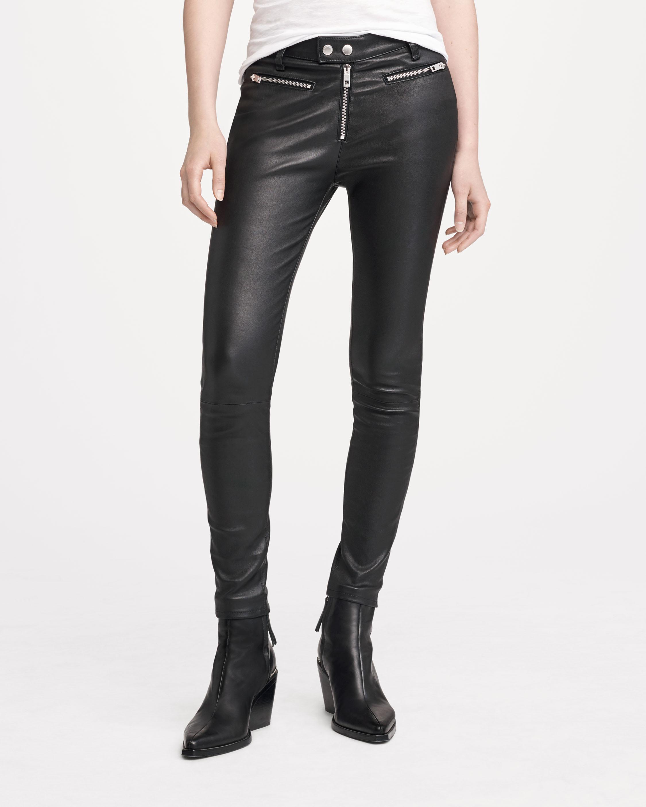 0d725535ec14 Ryder Leather Pants - Black Skinny Leather   Moto Details