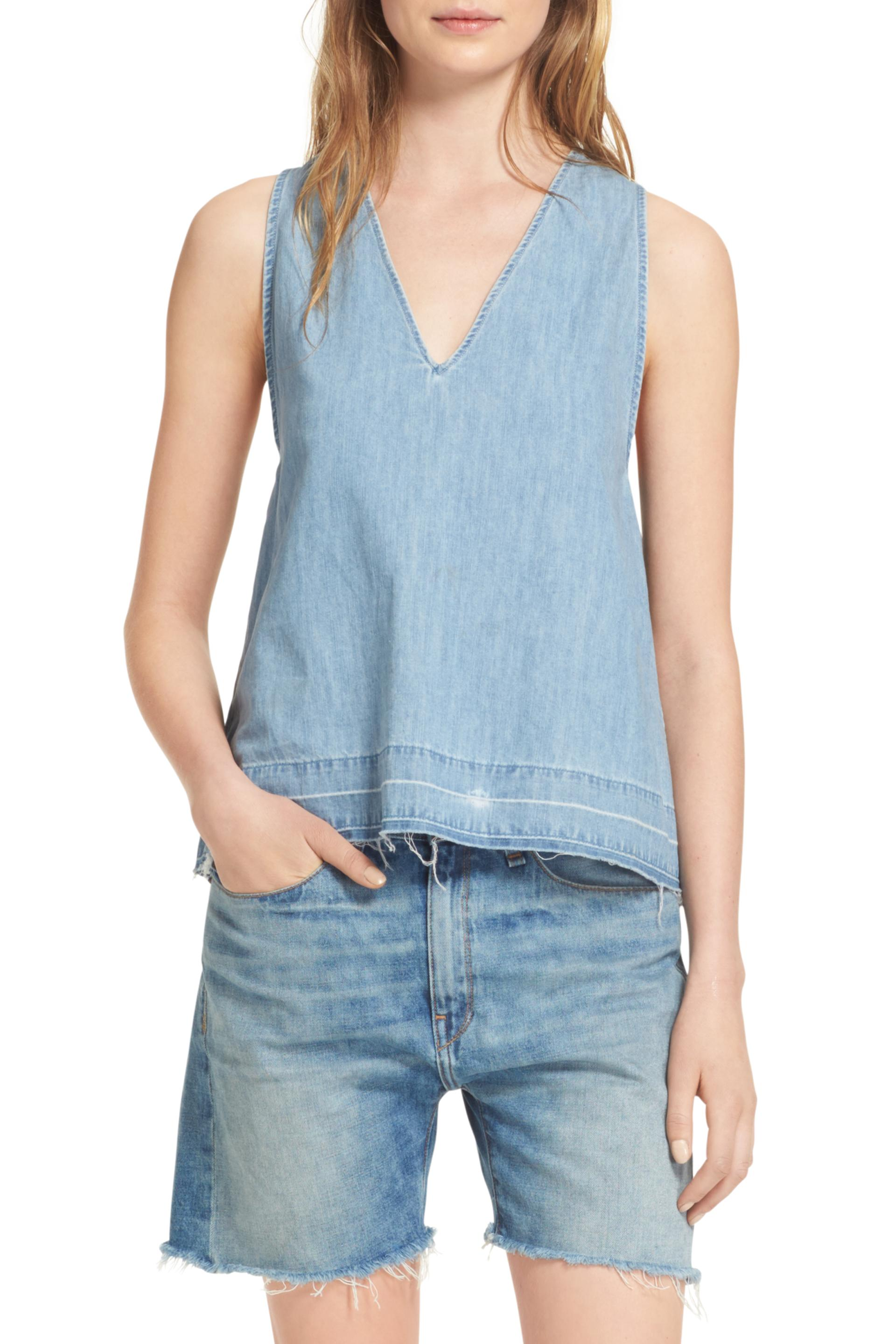 esley c hem draped from drapes women scmpnls s sleeveless top shoulder to approximately clothings blouses womens p