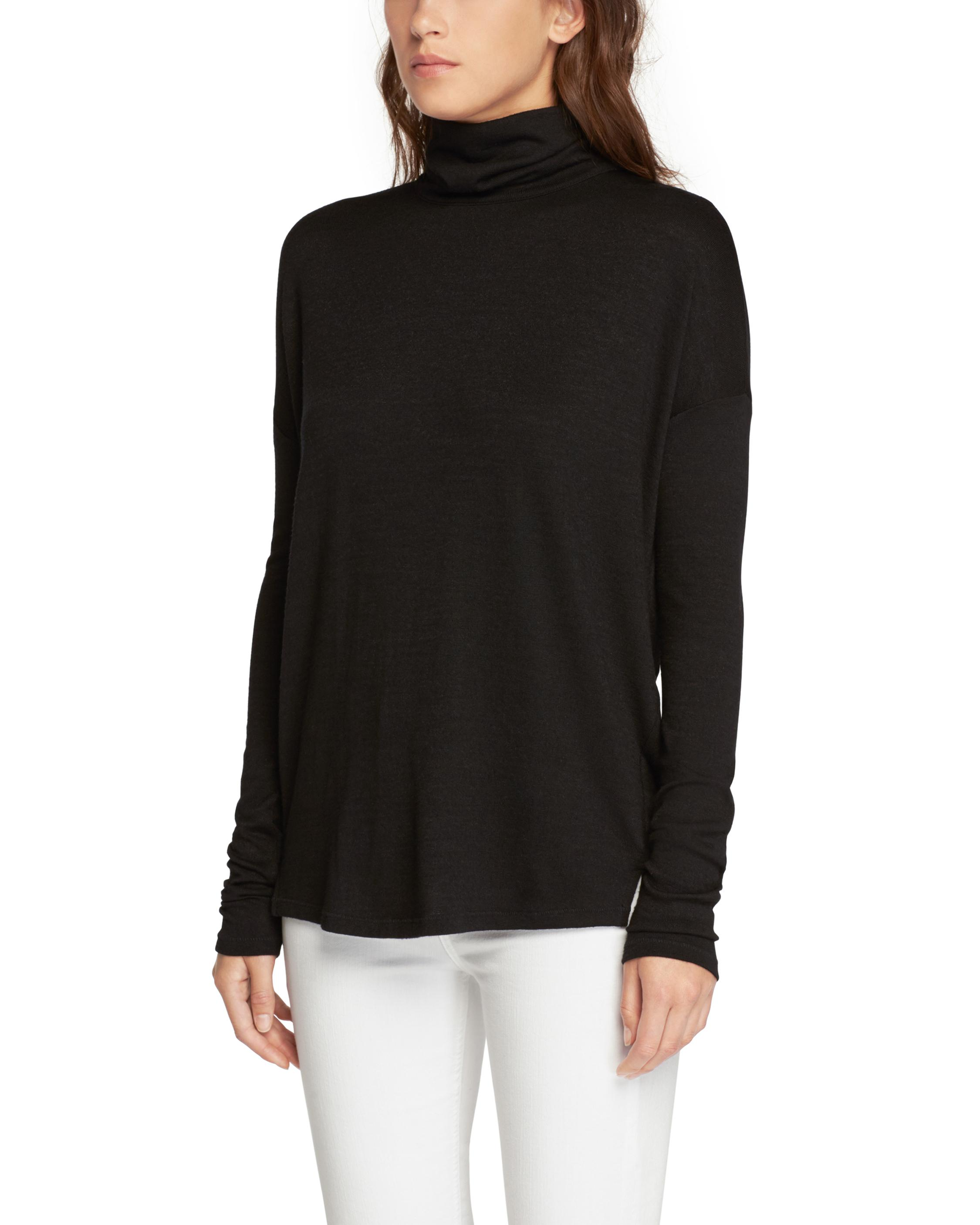 CUTOUT LONG SLEEVE TURTLENECK
