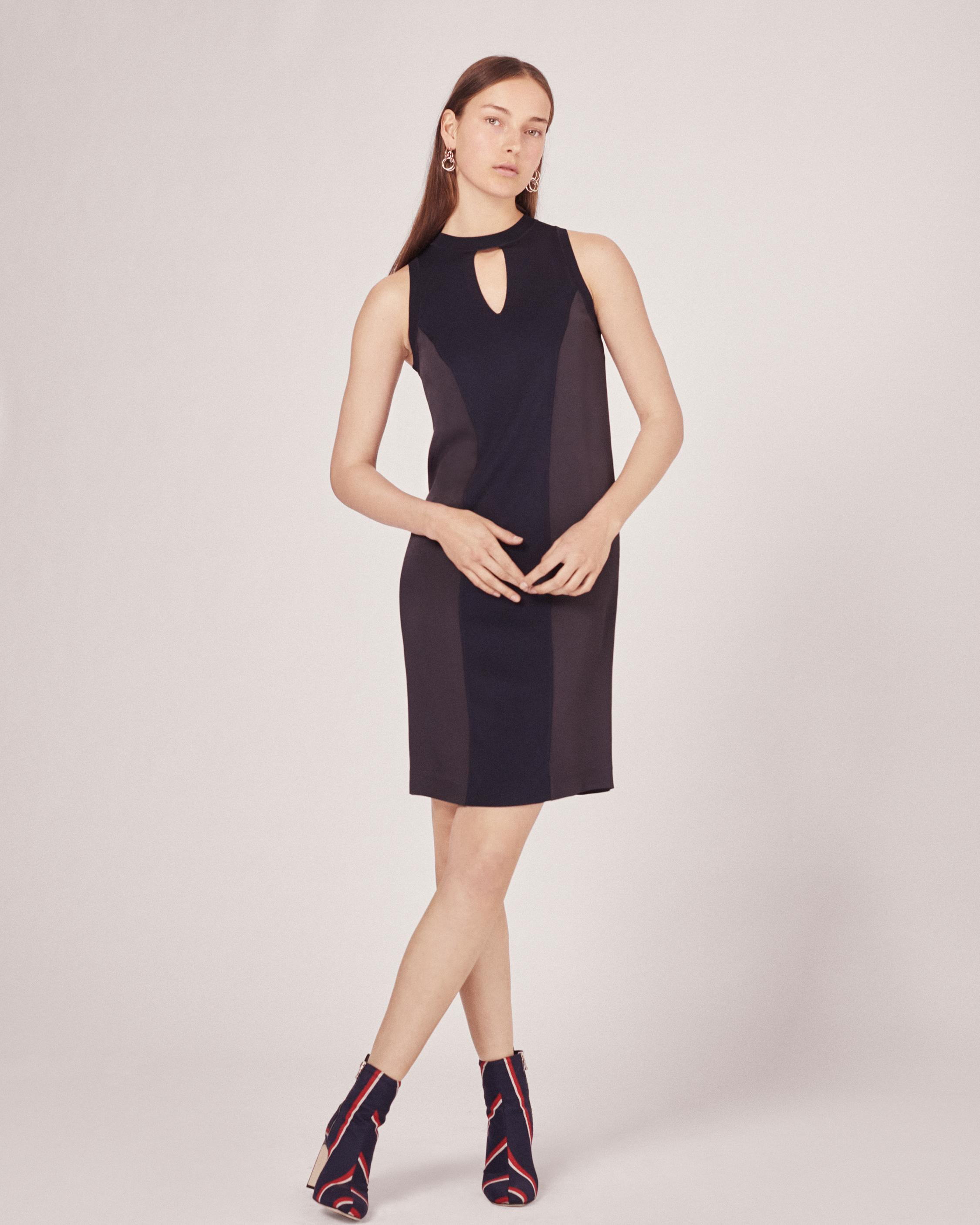 Rag & Bone Woman Satin Dress Black Size 0 Rag & Bone A8jtiVGT