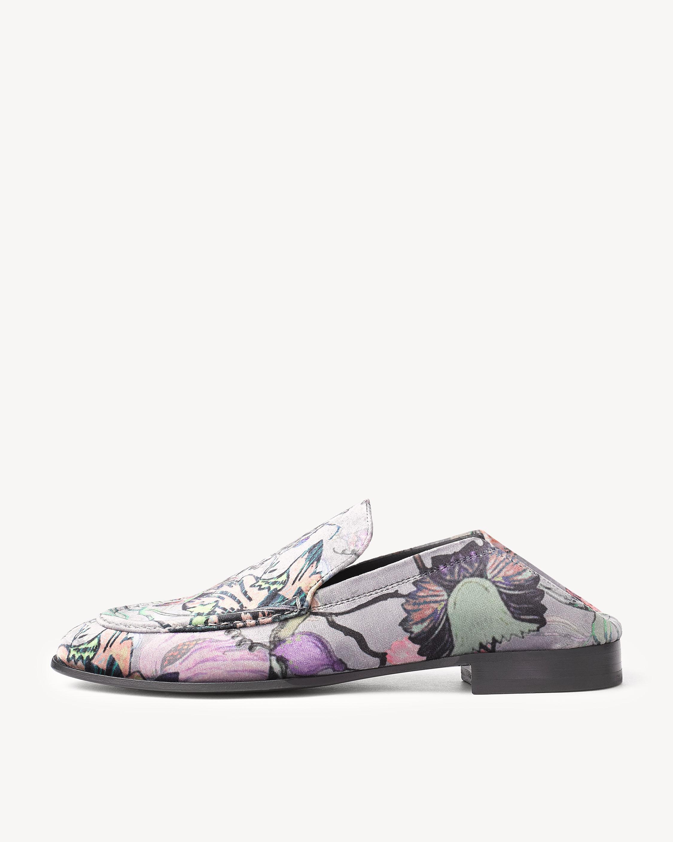 Rag & Bone Floral Velvet Convertible Loafers