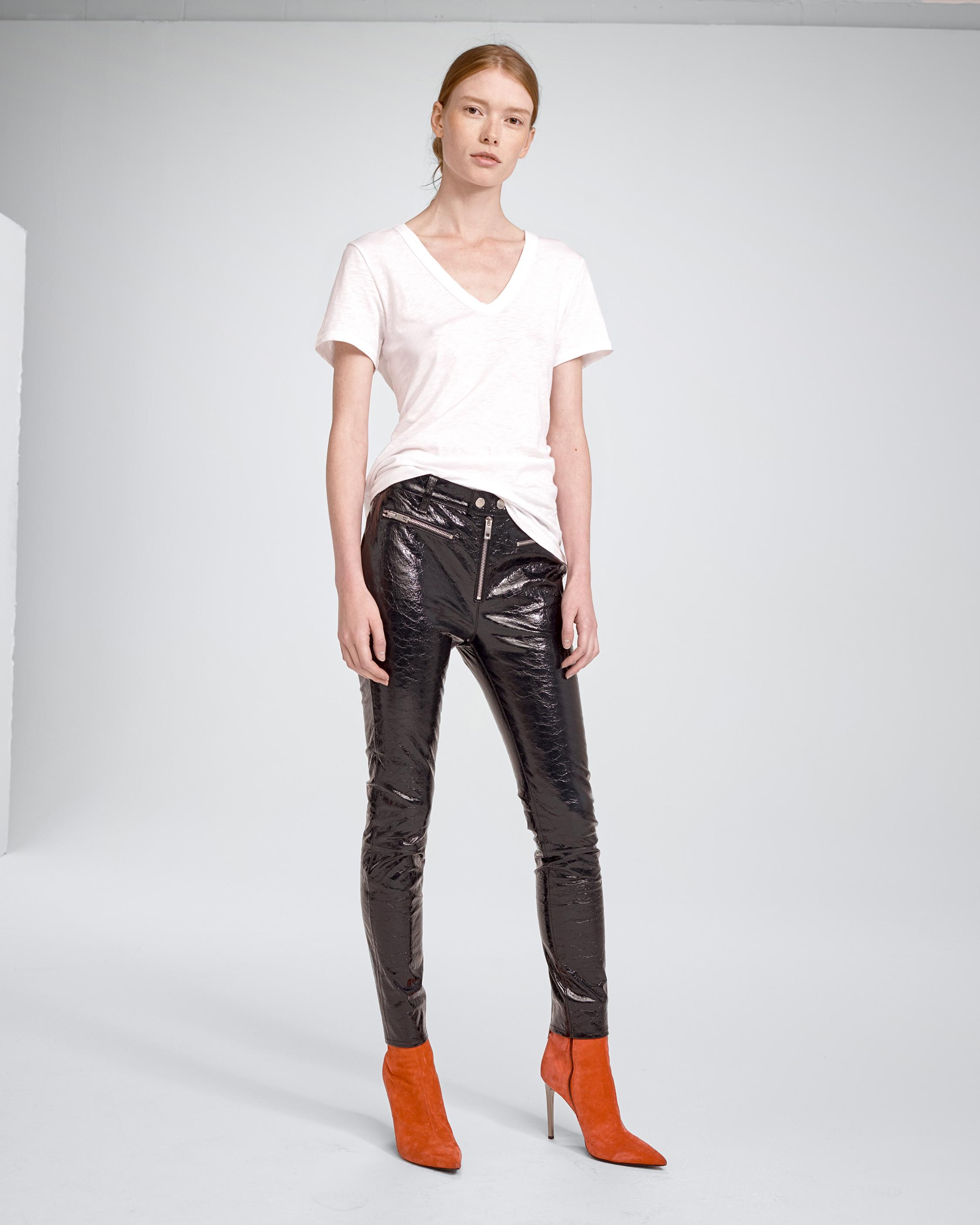 RYDER CRINKLE LEATHER PANT