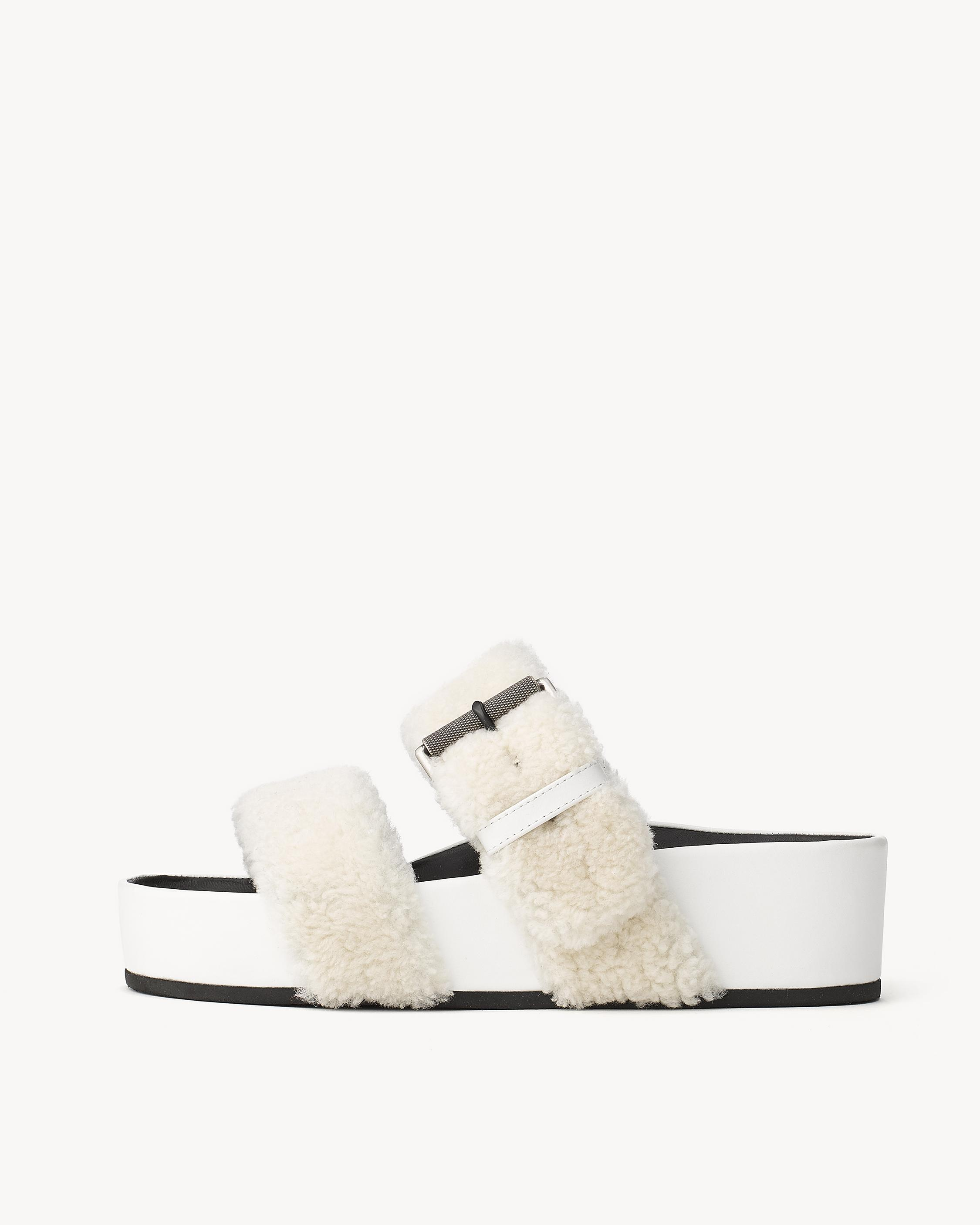 RAG&BONE Evin Leather Sandals with Shearling Gr. IT 36 o2fTAk