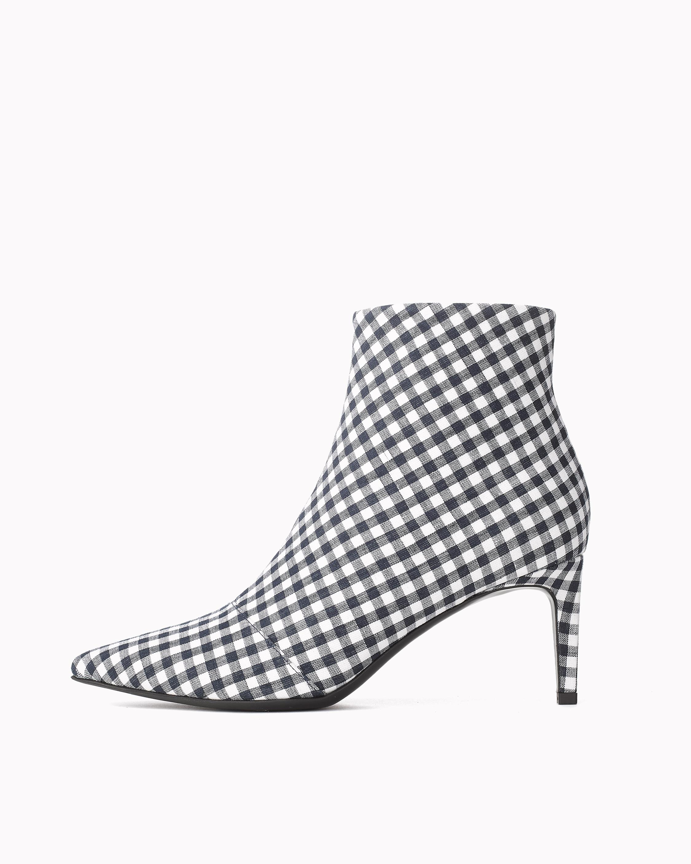 Womens Beha Gingham Ankle Boots Rag & Bone