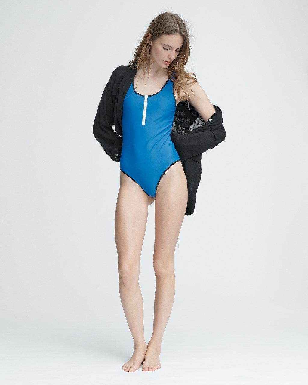 ZIP ONE PIECE SWIMSUIT