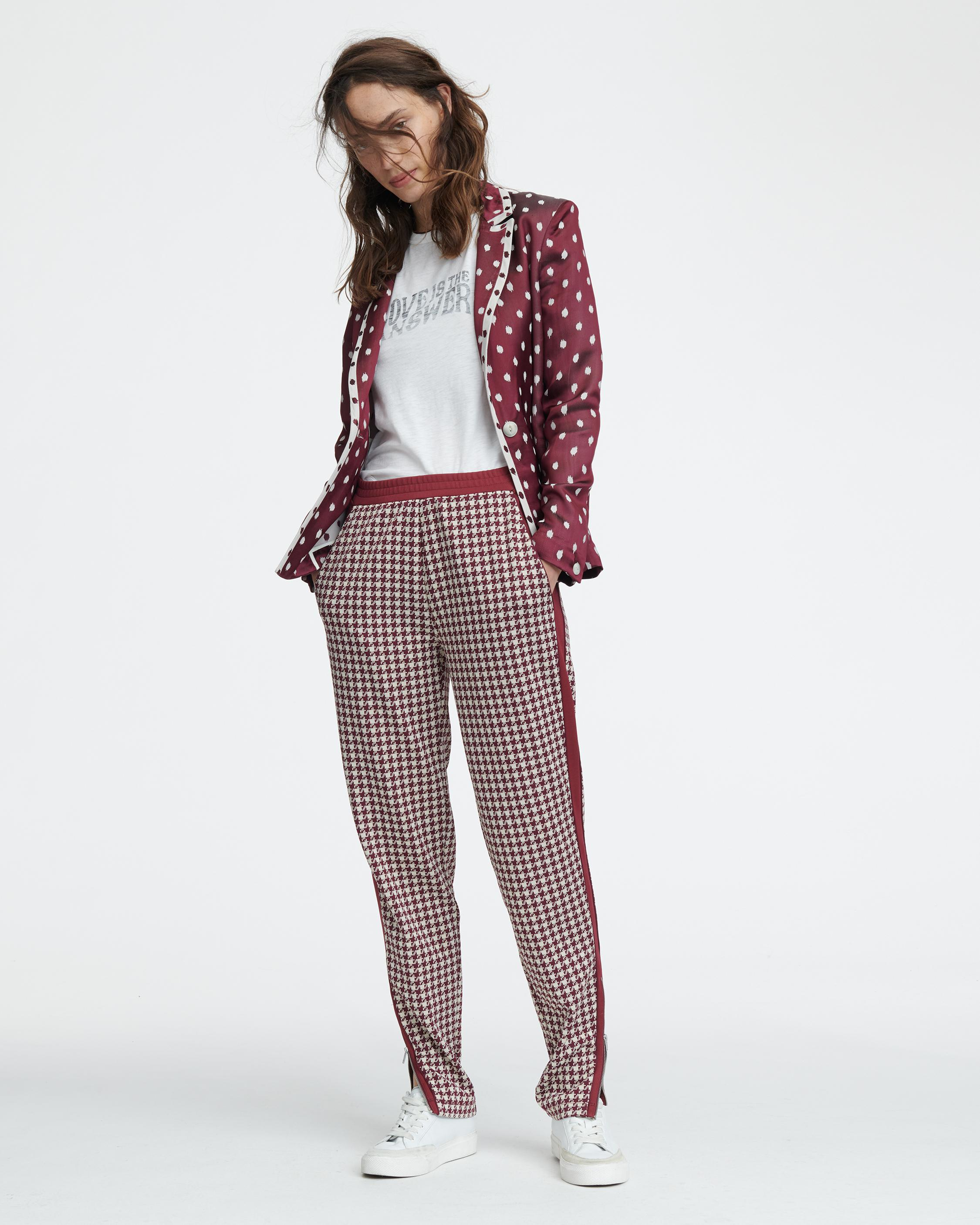 MARI HOUNDSTOOTH TRACK PANT