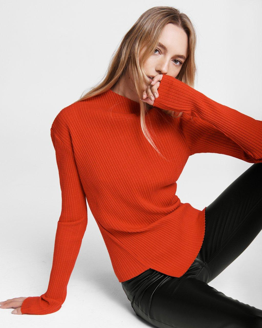 Jade Cotton Turtleneck