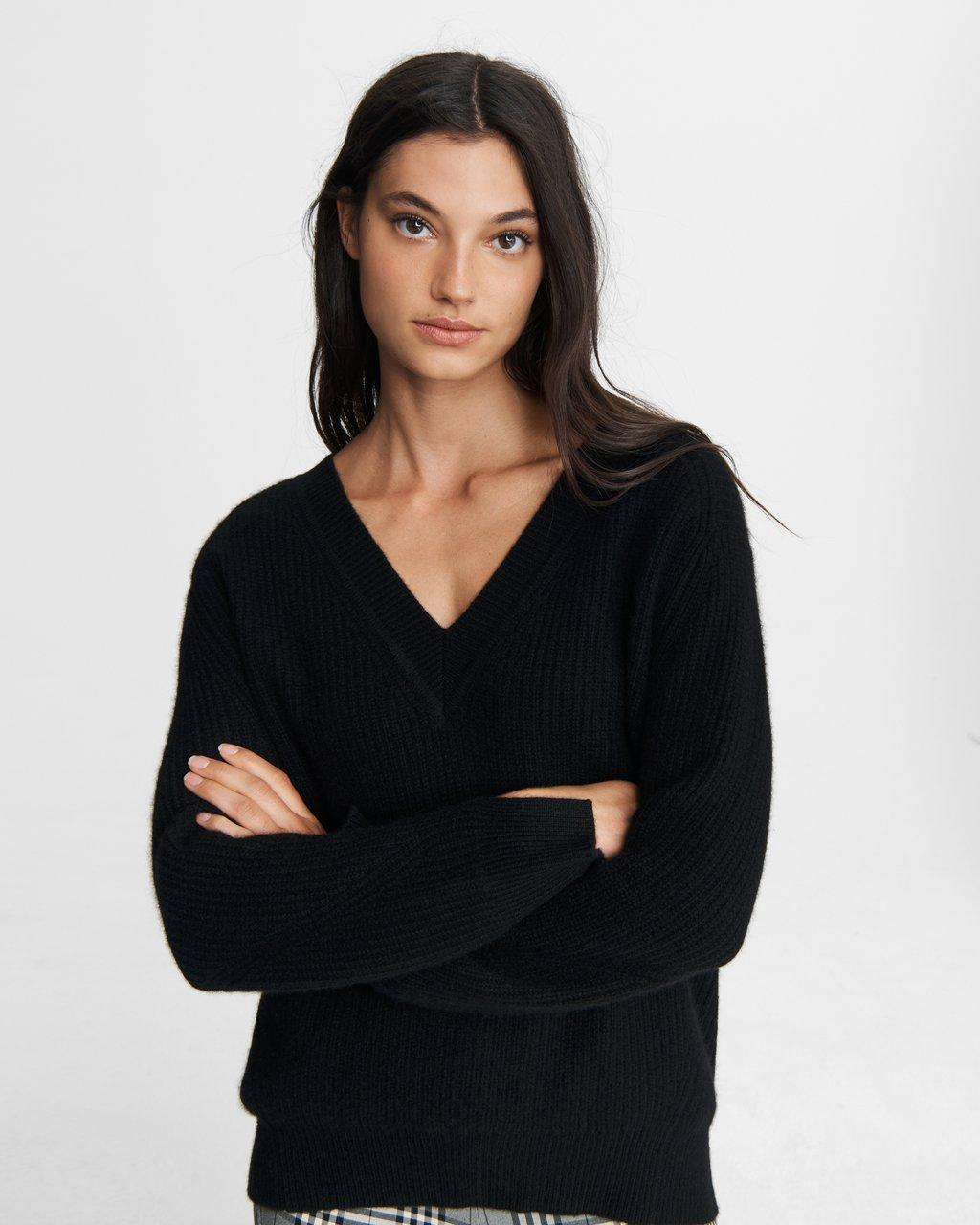 Pierce Cashmere V Neck