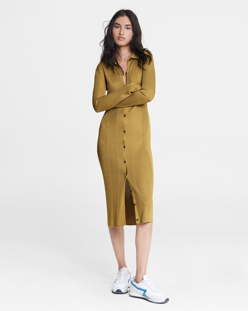 Pacey Button Down Midi Dress